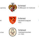 Schmied, Zunft, Wappen