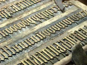 Schriftsetzer, Typen, Buchstaben, lettern