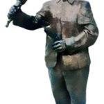 Ausscheller, Aursufer, Bronzefigur