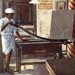 Buchbinder, Buchbinderei, Schneidemaschine, Indien