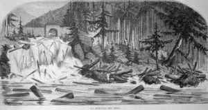 Flößer, Floß, Holztransport