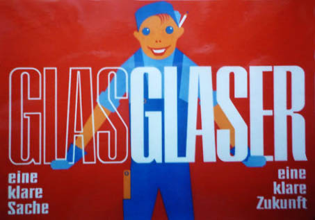Werbung für den Glaserberuf