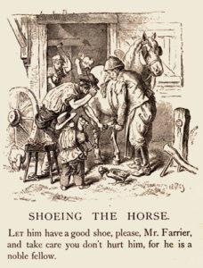 Hufschmied, Pferd