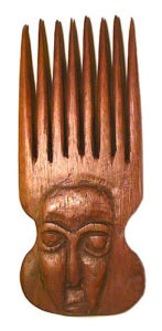 afrikanischer Holzkamm, Kamm