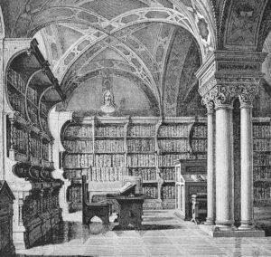 Bibliothek, Bücherei, Bücher, Bücherregale, lesen, Literatur