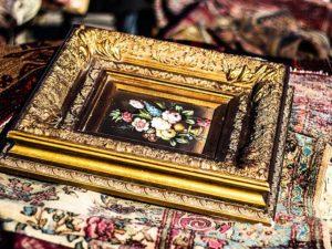 Blattgold, Vergoldung, Bilderrahmen