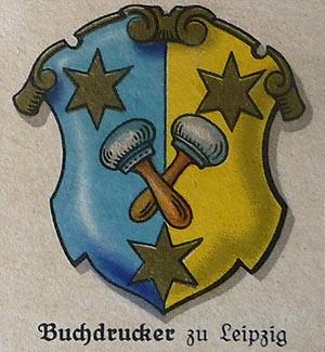 Zunftwappen: Buchdrucker zu Leipzig - 1933