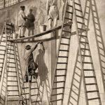 Maler, Anstreicher, Lackierer, Fassadenmaler, Tüncher, Bockleiter