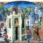Maurer, Bauhandwerker, Baustelle, Baukran, Tempelbau, Mittelalter