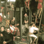 Maurer, Bauhandwerker, Baustelle, Hausbau, Mittelalter