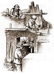 Maurer, Bauarbeiter, Baustelle, Hausbau, Rohbau