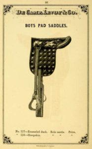 alte amerikanische Katalogabbildung: Jungensattel