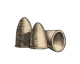 illu: kegelförmige Tongefäße, zwei umgestülpt stehend und eins auf Seite liegend