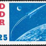 DDR, Briefmarke, Kosmonaut, Astronaut, Raumschiff, Wostok 2
