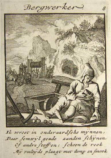 sw-Stich: Bergmann mit niederländischem Text