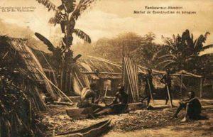 Bootsbauer, Bootsbau, Boote, Piroggen, Kongo