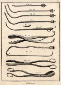 Chirurgie, chirurgische Instrumente, Werkzeuge, Operation
