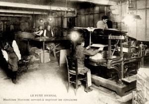 Druckerei, Rotationsdruckmaschine, drucken