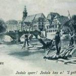 Tübingen, Flößer, Floß, Brücke