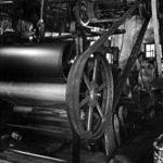 sw-Foto: Papiermaschine