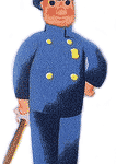 Illustration: Polizist in Uniform