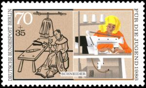 Briefmarke, Schneider, Schneiderberuf