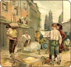 Bauarbeiter, Baumeister, Polier, Baustelle, Hausbau