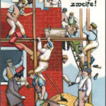 Bauarbeiter, Hausbau, Humor