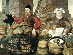 Händler, Markthändlerpaar
