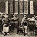 Lehrer, Schüler, Schule, China