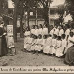 Lehrerin, Nonne, Schüler, Madagaskar