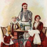 nähen, Nähmaschine, Singer, Näherin, Trachten, Griechenland