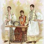 nähen, Nähmaschine, Singer, Trachten, Näher, Rumänien