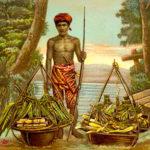 Obstverkäufer, Händler, Verkauf, Indonesien