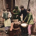 China, Reisbauern, Reis mahlen, Arbeit