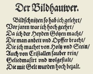 Bildhauwer-Vers