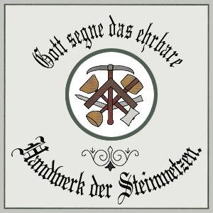 Steinmetz, Steinmetzzeichen, Steinmetzschild