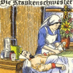 Krankenschwester Verbandswechsel