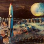 3D-Karte: Rakete auf Planeten im Weltall