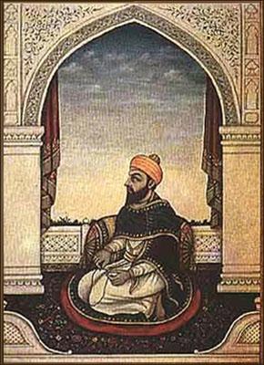 Farbbild: islamischer Fakir in geistiger Versenkung