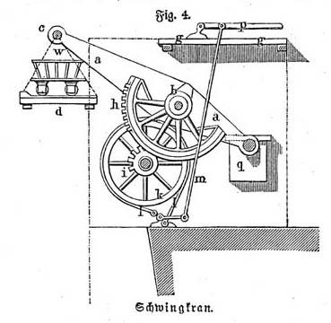 technische Zeichnung eines Schwinkranes