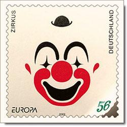Briefmarke: Clowngesicht