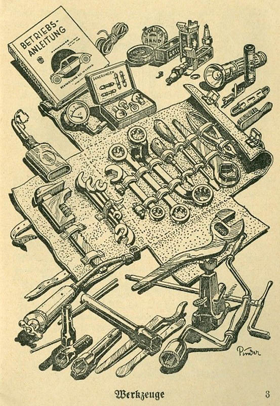 viele Werkzeuge für den Automechaniker