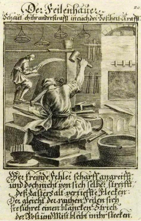 Bild mit religiösem Sinnspruch
