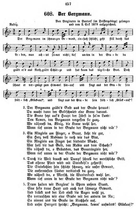 Liedtext mit Noten