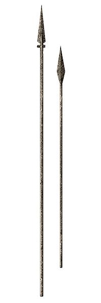 Grafik: zwei mittelalterliche Lanzen