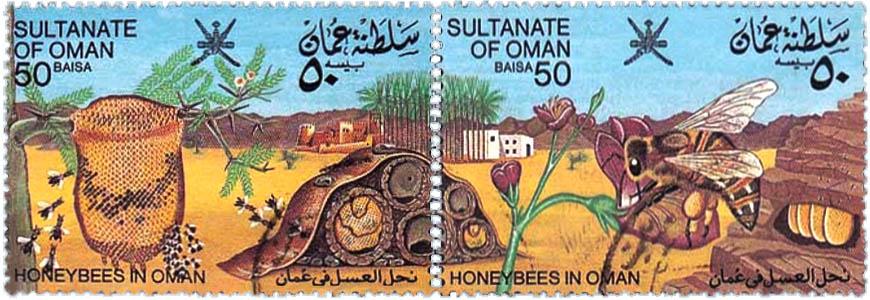 Doppelbriefmarke: Bienenwohnungen