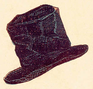 illu: Kopfbedeckung, schwarzer Hut