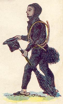alte Illustration: Schornsteinfeger