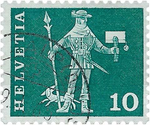 Briefmarke (Schweiz, 1960)